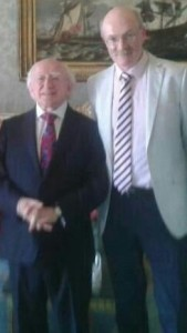Brian with President Michael D. Higgins