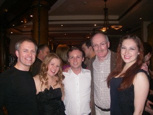 Brian with cast members
