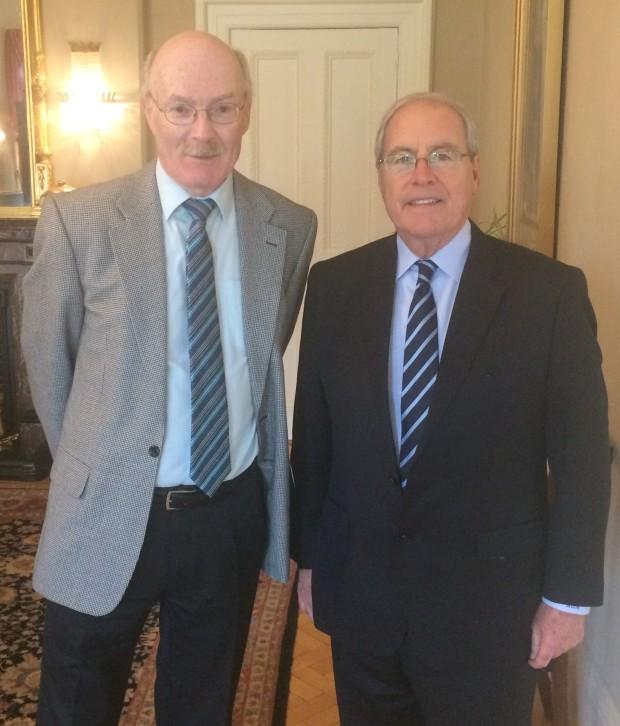 Brian Gallagher and Ambassador O'Malley