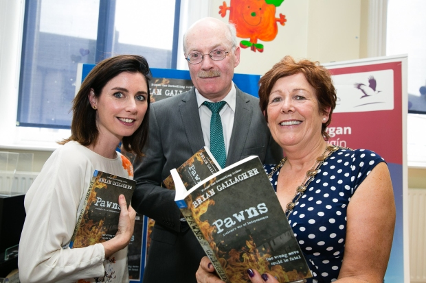 Sarah O'Neill (Fingal County Arts Office), Brian Gallagher and Mayor Mary McCamley